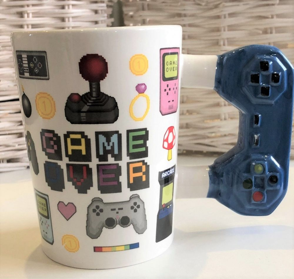 Gaming Mug with Blue Games Control Handle
